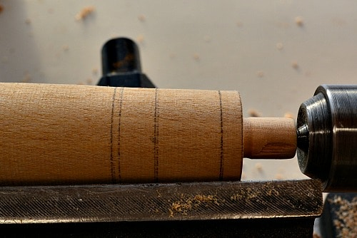 Bottle Stopper: initial design markings on the blank