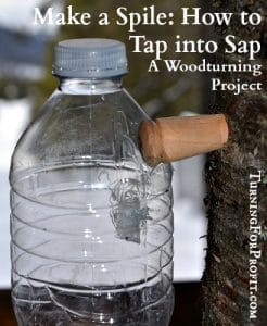 Spile: How to Tap into Sap – A Woodturning Project