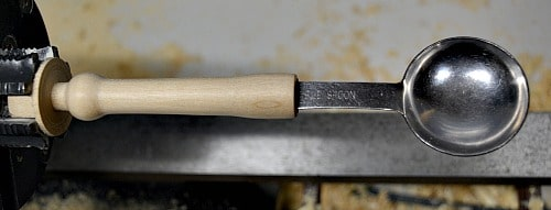 wooden handle sanded to 800 grit