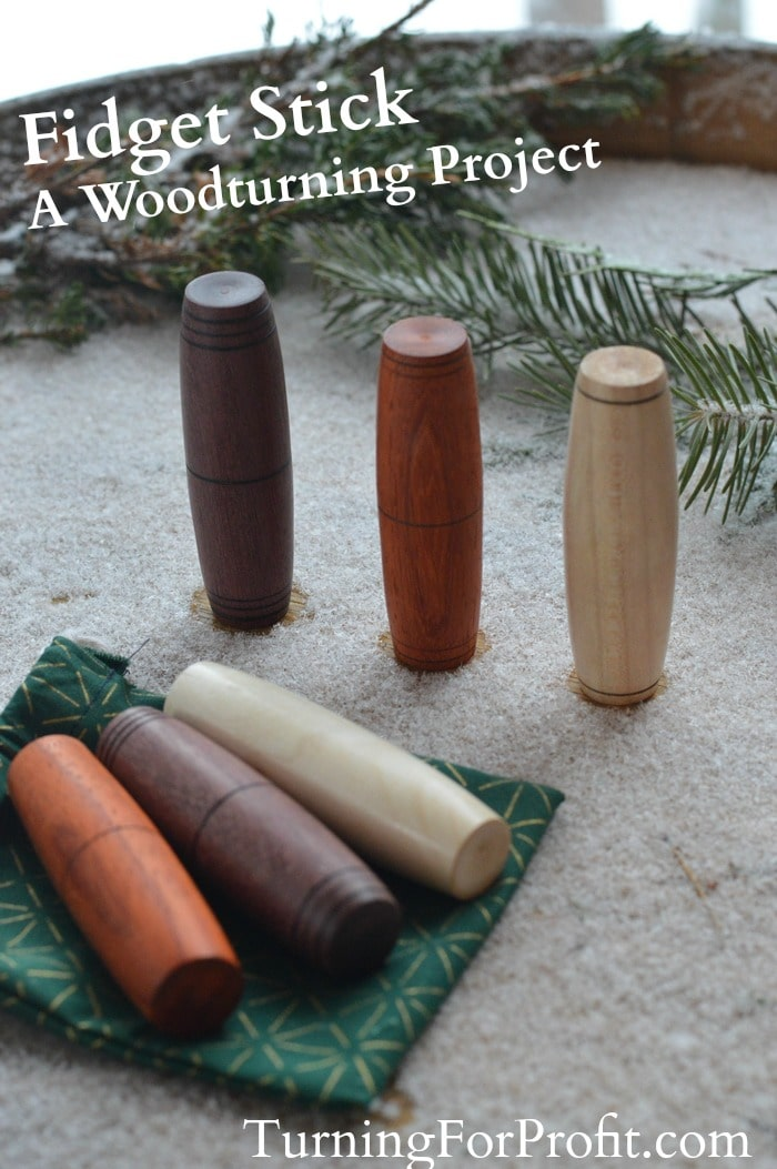 Fidget Stick - a woodturning project for kids of all ages