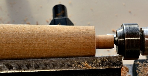 Bottle Stopper: The tenon for the insert is turned