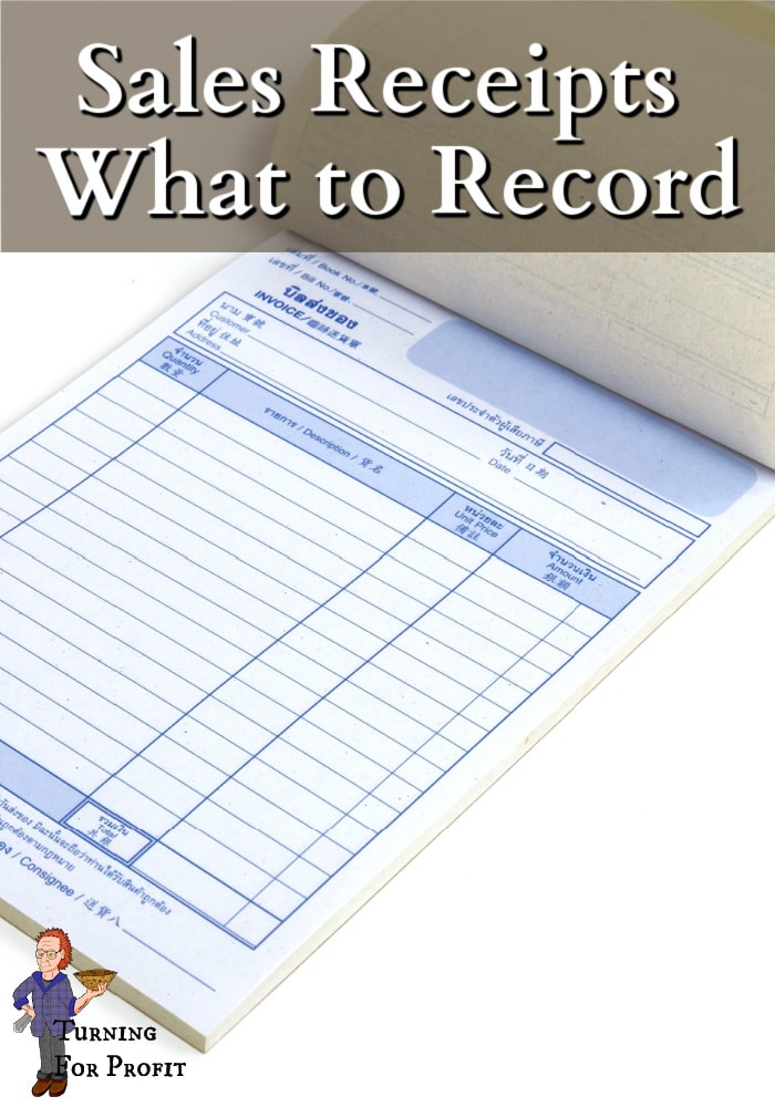 Receipt book open to a blank page