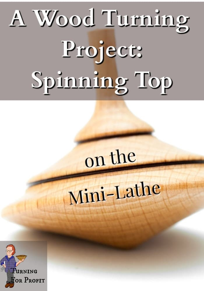 A wooden spinning top