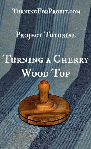 Mini-lathe Turned Cherry wood top