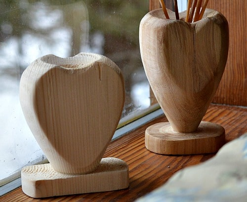 heart vase two thicknesses