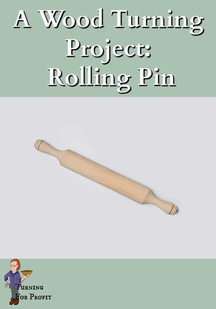a wooden rolling pin