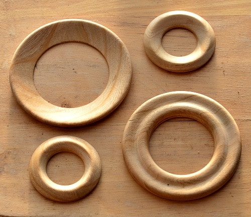 Shawl Pins - Four turned rings