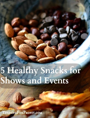 Healthy Snacks for Shows and Events Pin