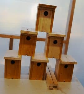 Bluebird houses just completed