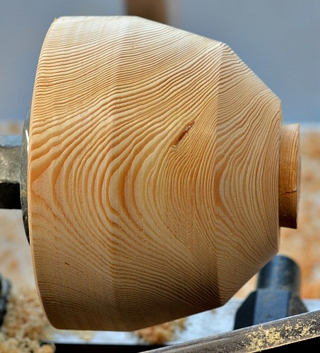 Wooden Bowl - Larch refined shaping