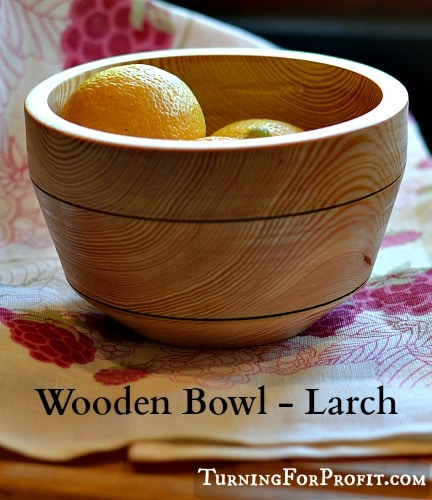 Wooden Bowl - Larch Pin