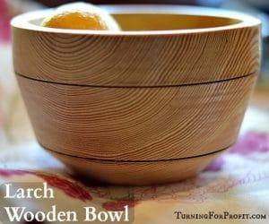 Wooden Bowl - Larch Title