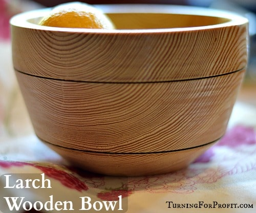 Wooden Bowl - Larch Title