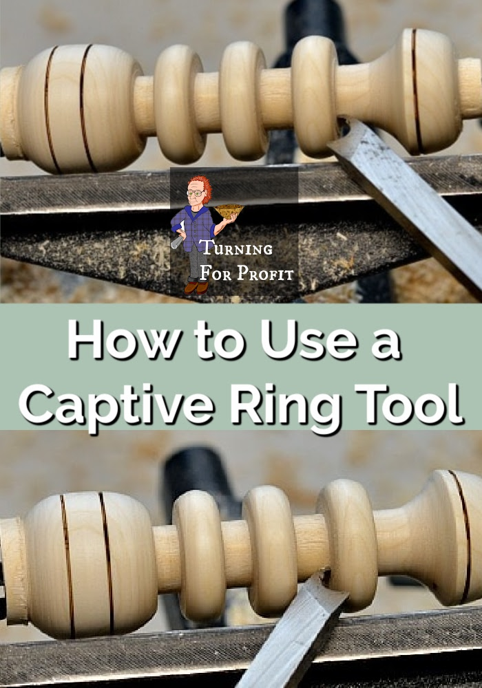 Baby rattle on the lathe using a captive ring tool