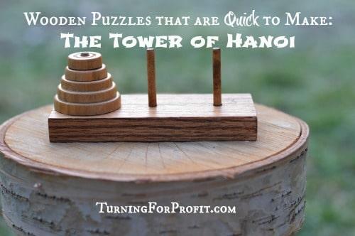 wooden tower of hanoi