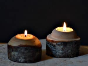 Tea lights are candles that need small but stable holders. Easy to turn, these candle holders are great to create ambiance or to use during an emergency.