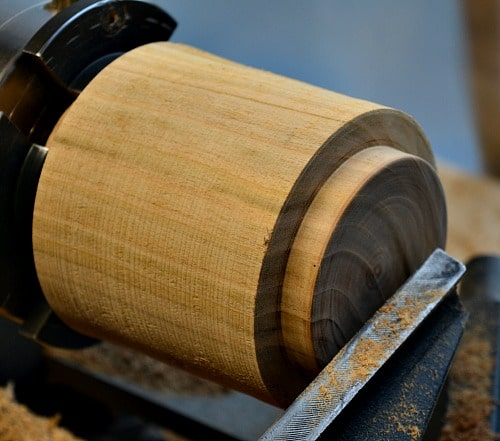 Jar Lid - Tenon is finished to the right size