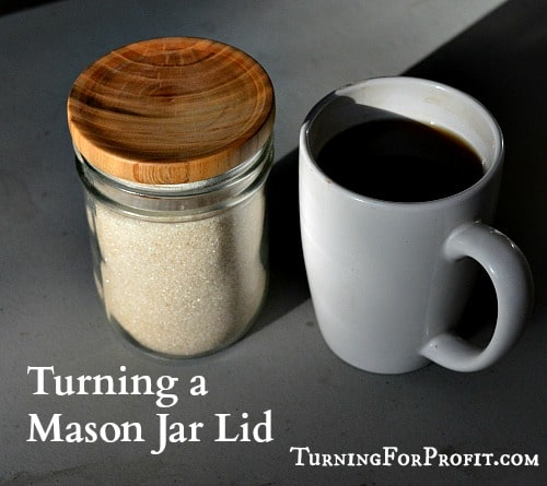 Jar Lid - A cup of coffee and a lid on the sugar jar.