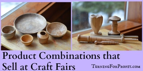 Product Combinations like bowls and garden turnings