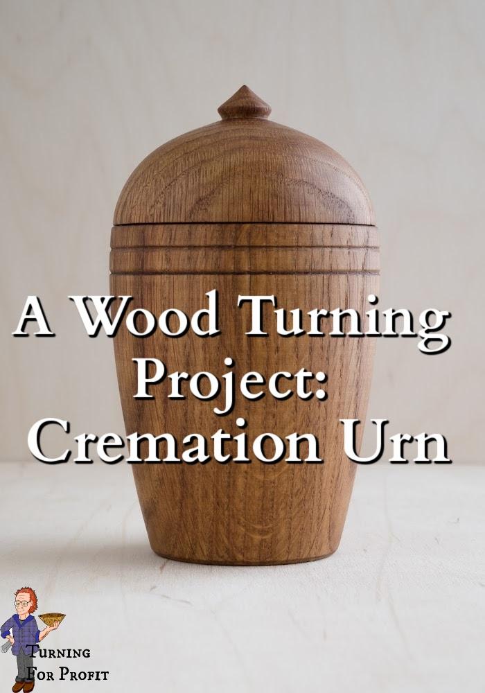 A wooden urn