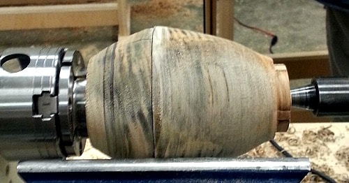 Woodturning workshop - hollow form on the lathe