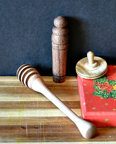Mini Decorations Use regular turnings that are small