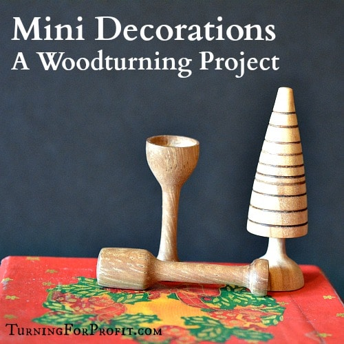 3 wooden miniature Christmas decorations