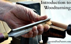 Woodturning lathe set up