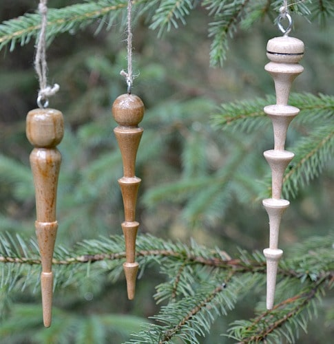 Wooden icicle don't melt. One of the projects in the Woodturning Blueprint