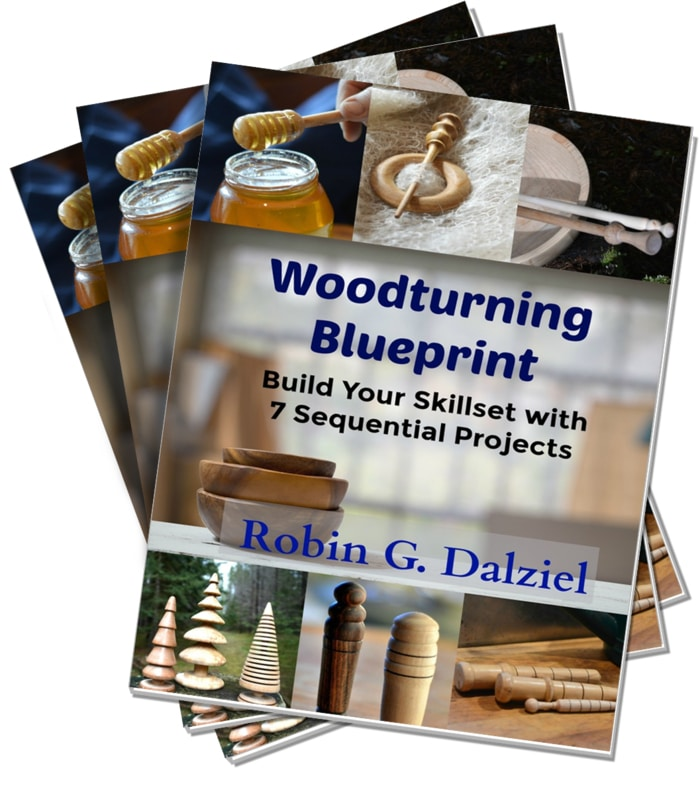 Woodturning Blueprint Print edition is available as a PDF, paperback book, and kindle version