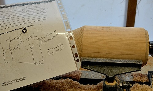 The notes help to guide me as I go through my woodturning project