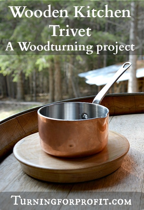 How to turn a wood trivet for your kitchen