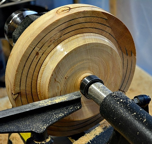 turning the back of the cedar trivet